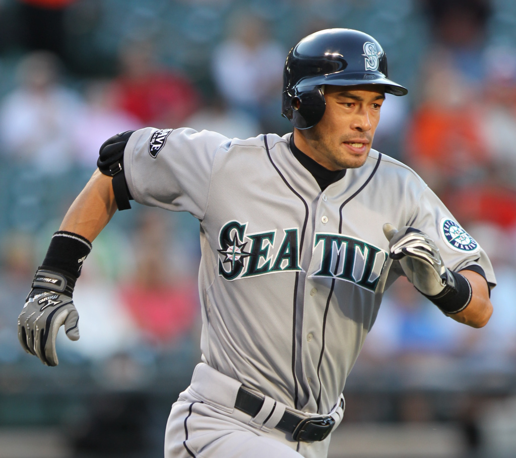Seattle Mariners right fielder Ichiro Suzuki (51) in action during a game hosted by the Baltimore Orioles
