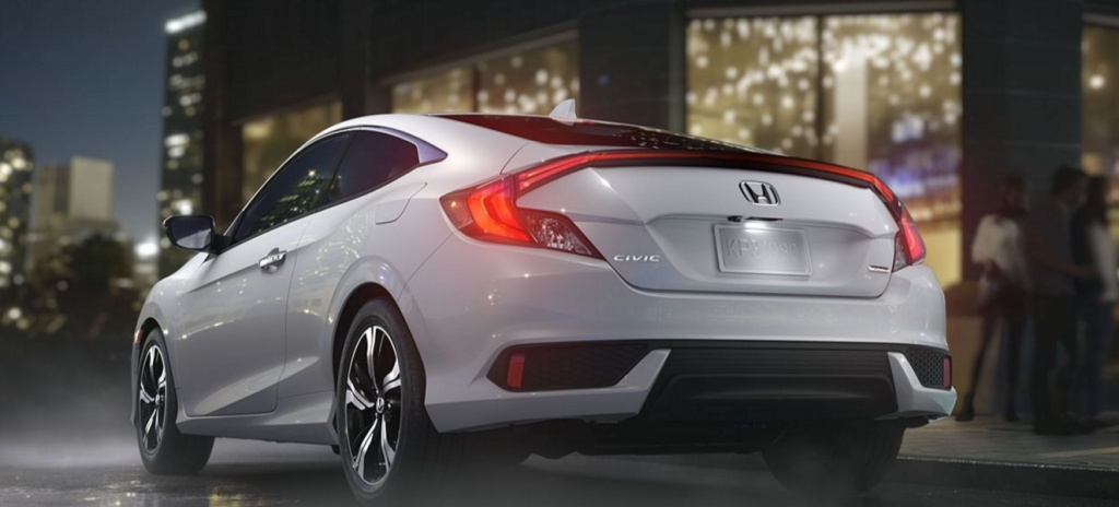 Honda updates their Civic coupe for 2016 with a turbocharged power plant and some interesting high tech control features.