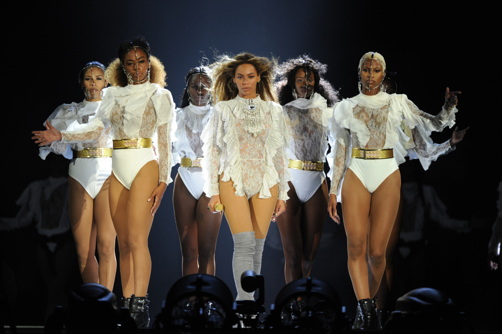 File: In this handout photo provided by Parkwood Entertainment, Beyonce performs during the opening night of the Formation World Tour at Marlins Park on April 27, 2016 in Miami, Florida.