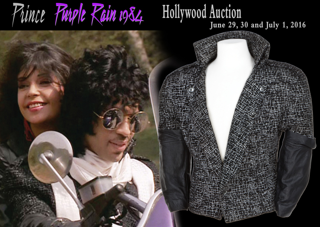 A jacket Prince rode while riding a motorcycle in the 1984 movie