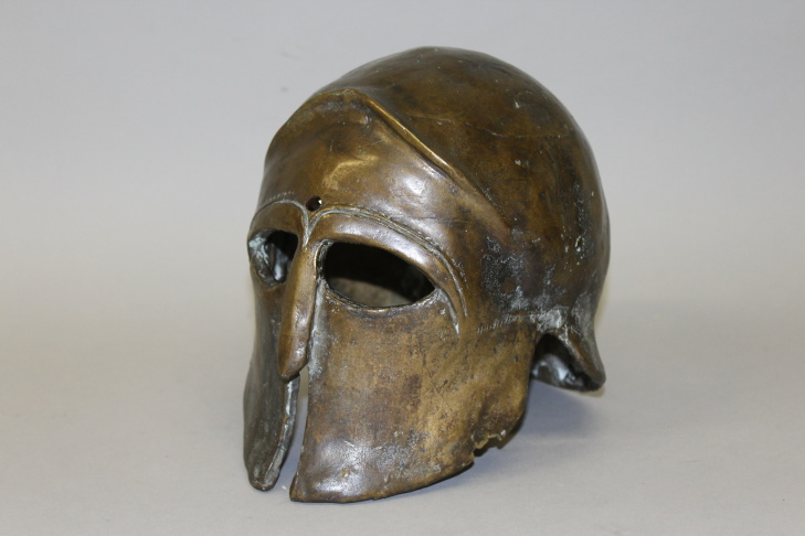 A 7-inch high bronze mask from Clash of the Titans 1981.