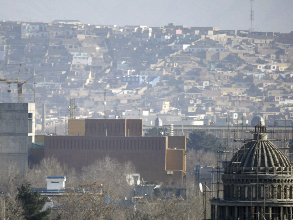 A general view of the U.S. Embassy in Kabul in 2013. The State Department announced Tuesday