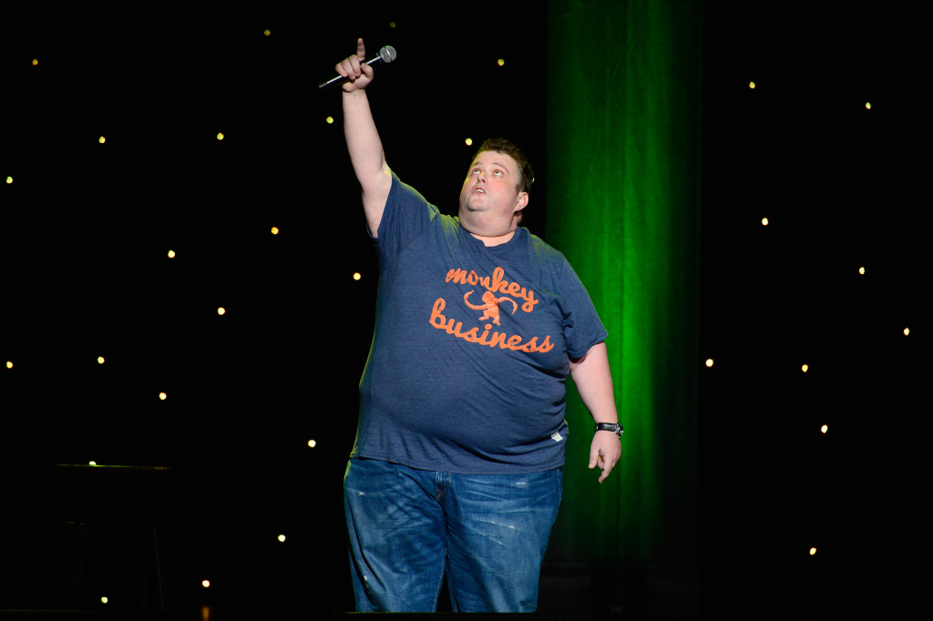 Comedian Ralphie May performs at KROQ Presents Kevin & Bean's April Foolishness at The Shrine Auditorium on April 4, 2015 in Los Angeles.
