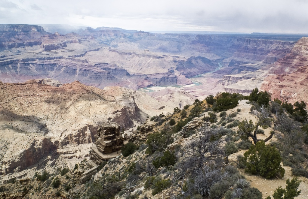 The Grand Canyon, Arizona seen from the Desert View observation point on May 11, 2014. Each year some five million people visit Grand Canyon National Park with its dramatic views into the deep inner gorge of the Colorado River.