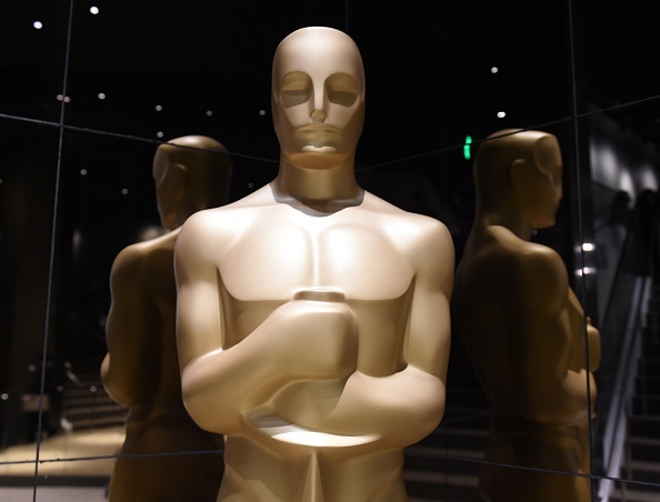 An Oscar statuette on display during the Academy Awards Nominations Announcement at the Samuel Goldwyn Theater in Beverly Hills, California
