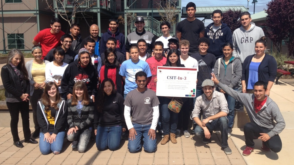 The inaugural class of the Computer Science and Information Technology program, scheduled to graduate in 2016.
