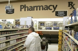Pharmacy area of Wal-Mart store in Mount Prospect, Illinois