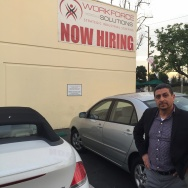 Walter Flores was unemployed for 8 months in 2014 but is now working in sales for Workforce Solutions in Compton