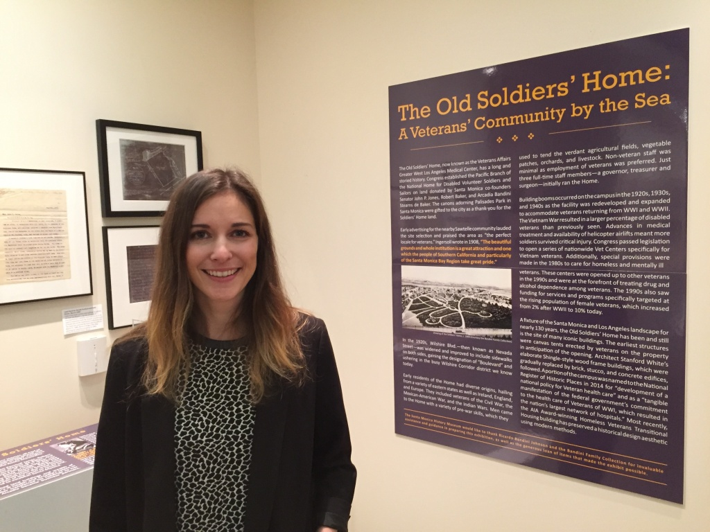 Sara Crown is the archivist of the Santa Monica History Museum, which just opened a new exhibit called