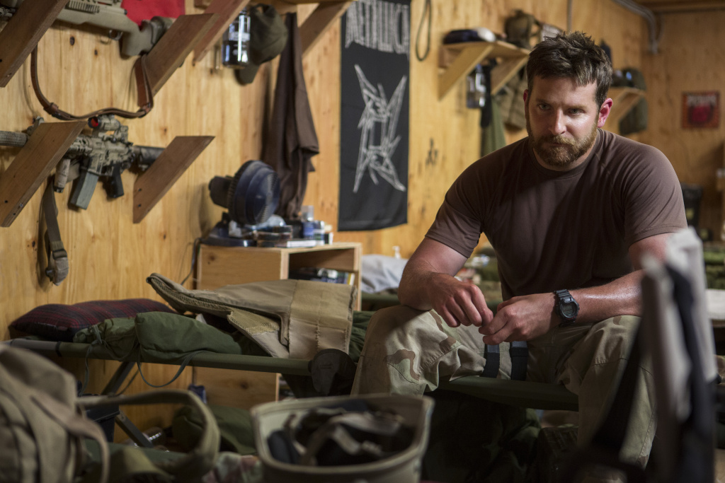Bradley Cooper as Navy SEAL sniper Chris Kyle in