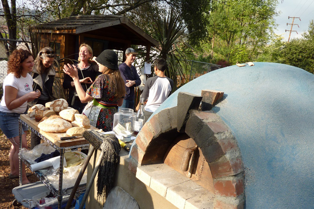 The Los Angeles Bread Bakers and their community earth oven.