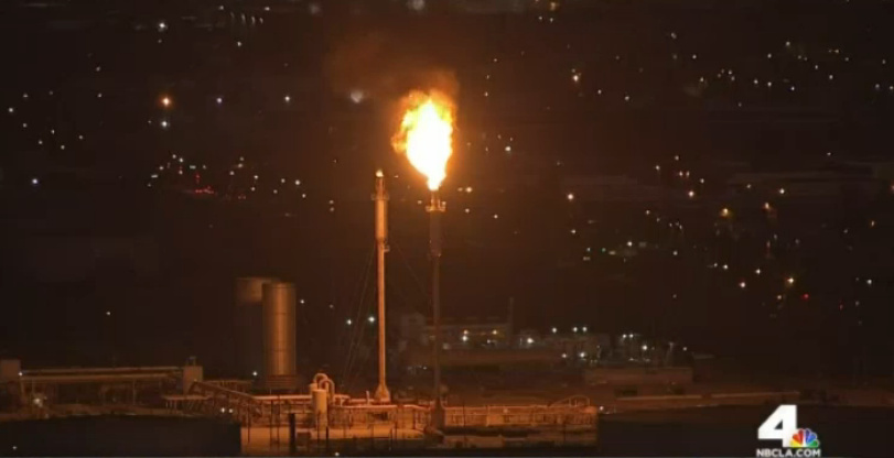The Torrance refinery saw a flareup Wednesday following a brief outage.