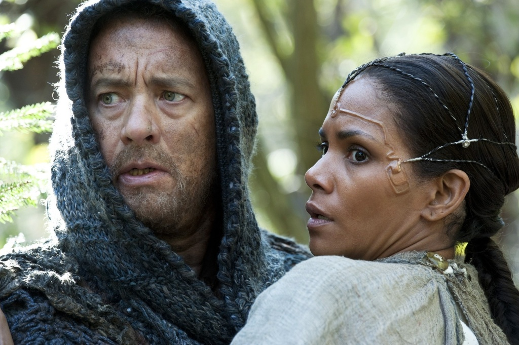Still of Tom Hanks and Halle Berry - stars of the upcoming film, Cloud Atlas.