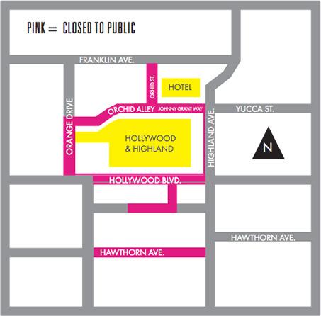 Oscars street closures Feb. 21