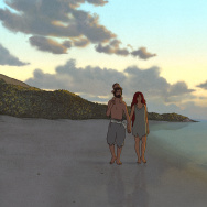 "A scene from the animated feature, ""The Red Turtle."""