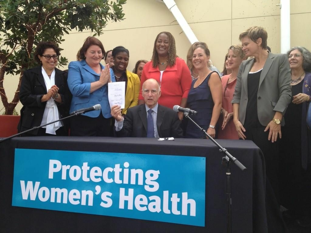 Gov. Jerry Brown signs AB 2348 that will allow women to obtain birth control from a registered nurse without seeing a doctor.