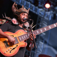 Thundercat performs at the 2017 Coachella Music Festival.
