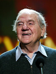 Actor Karl Malden wins the Life Achievement Award at the Screen Actors Guild Awards in 2004.  Before starring in the TV series