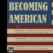 Becoming American title plate