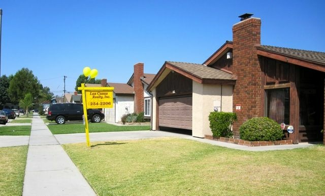 A suburban tract home for sale in north Downey, Calif., September 2010.