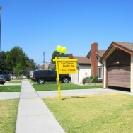 A suburban tract home for sale in the predominantly Latino middle class enclave of north Downey, Calif., September 2010.