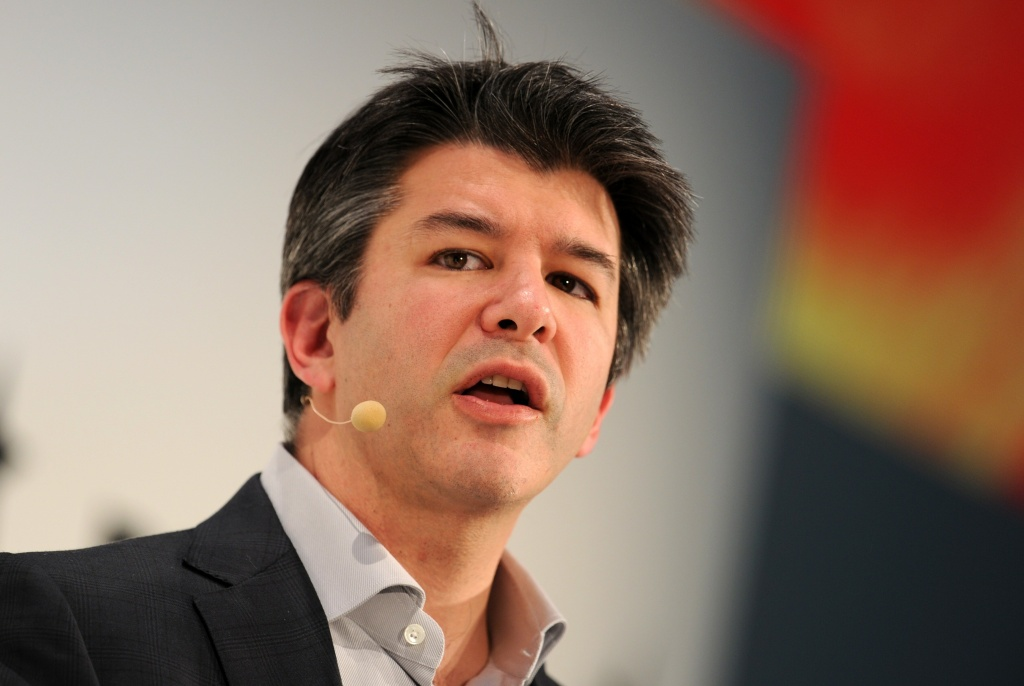 Travis Kalanick, co-founder of the US transportation network company Uber, speaking during the opening of the Digital Life Design (DLD) Conference in Munich, southern Germany.