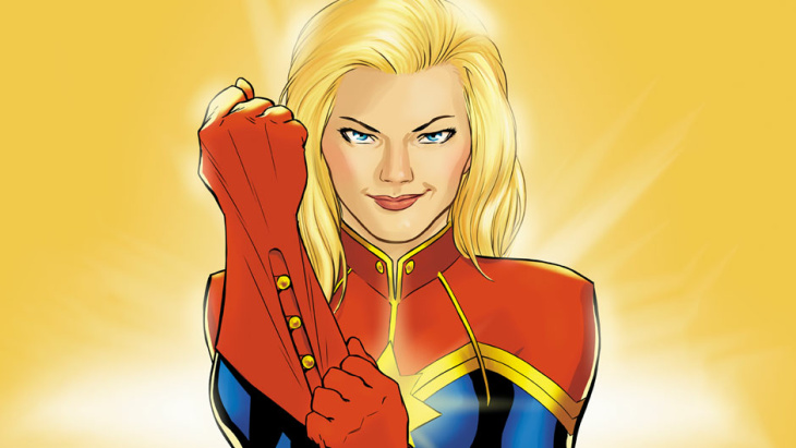 Captain Marvel, aka Carol Danvers, starring in a new Marvel movie in 2018.