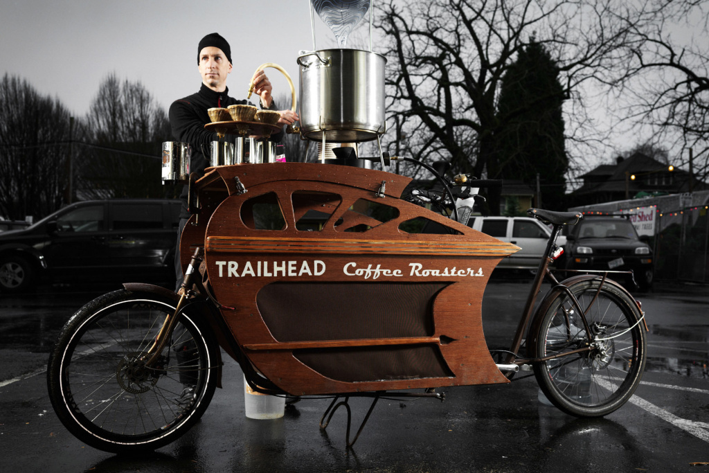 Charlie Wicker Of Trailhead Coffee Roasters Makes All His Deliveries Within The Six Mile Radius