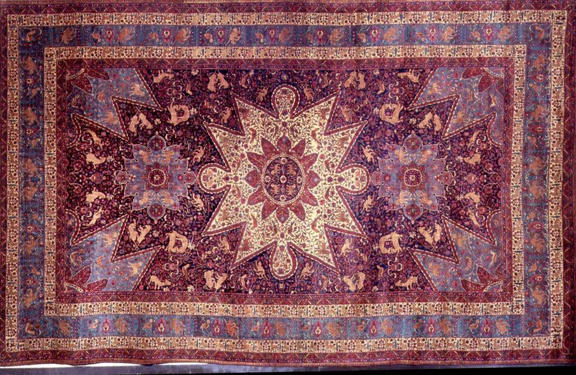 The so-called Armenian Orphan Rug was hand-tied in more than four million knots by orphan Armenian girls.
