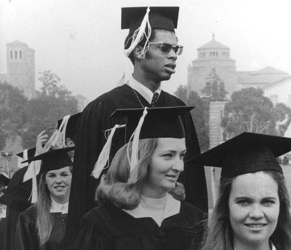 Third from right, Lew Alcindor (later Kareem Abdul Jabbar) attends his 1969 UCLA graduation.