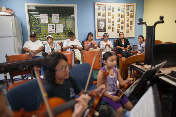 Atziri Rodriguez plays the piccolo in the Boyle Heights Community Youth Orchestra.