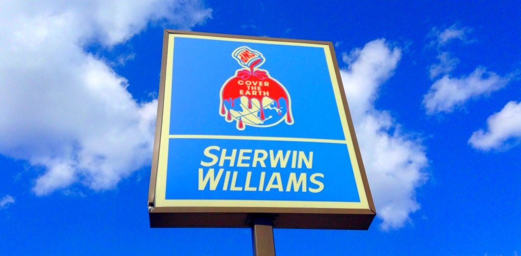 Sherwin Williams store sign