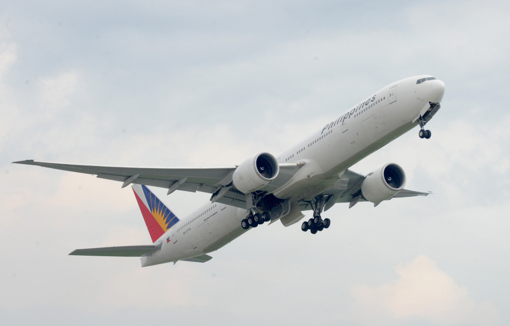 A Philippine Airlines plane lifts off from Manila on July 10, 2013.