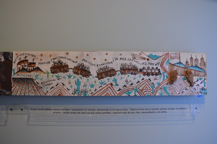 Visual Artist Nicolás Carballo. 2016. Mixed media on wood. Sin Título. Poet Francisco Hernández.