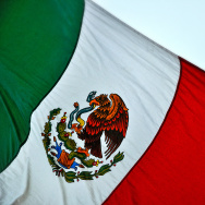 The Mexican flag.