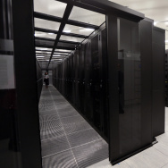 "A picture taken on September 17, 2013 in Saint-Denis, outside Paris, shows a room of cabling servers ""clients"" at the French branch of Digital Realty."
