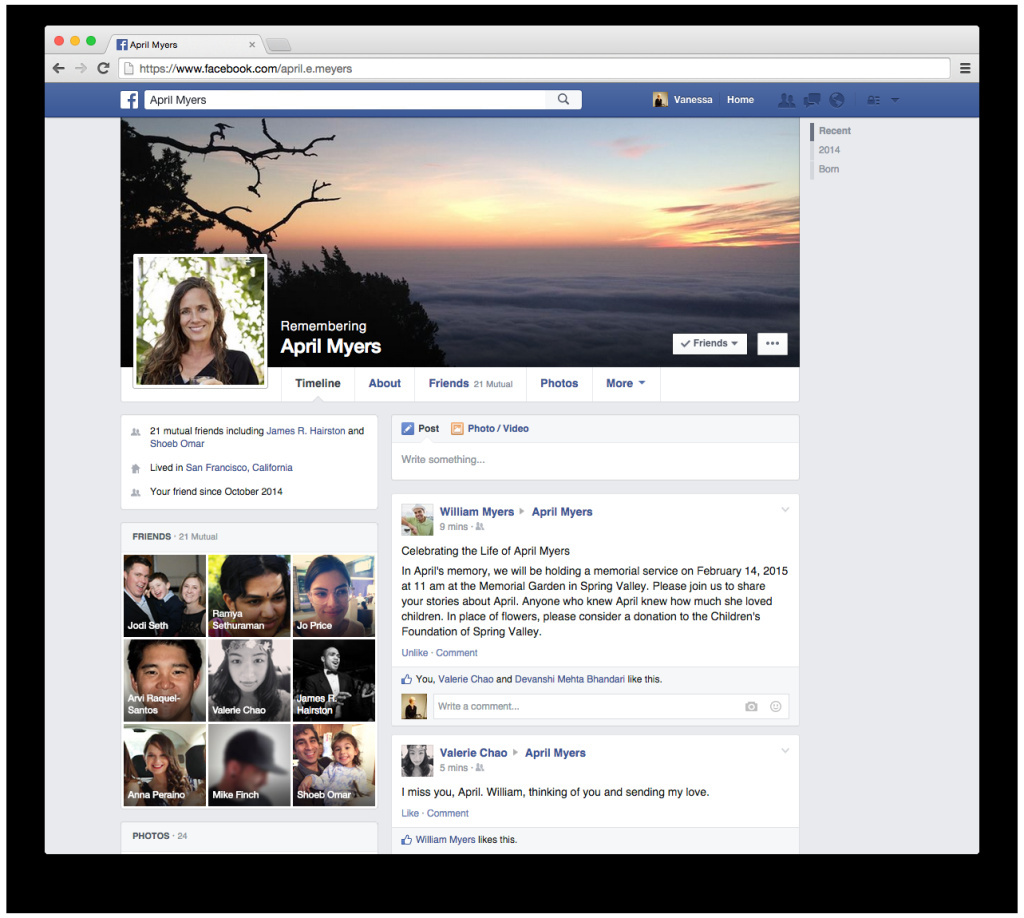 A new feature allows you to choose who will manage your Facebook page when you die.