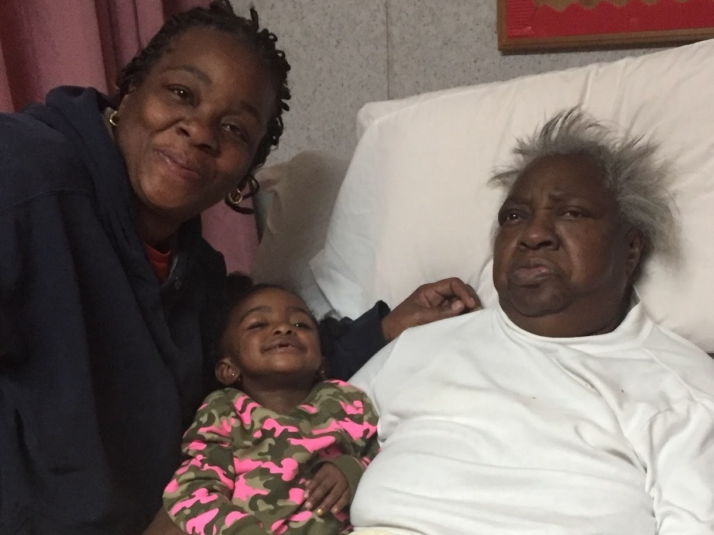 Lisa Howze, Gia Howze, and Palestine Howze. Palestine died last year and now, her family is suing Treyburn Rehabilitation Center where she lived.