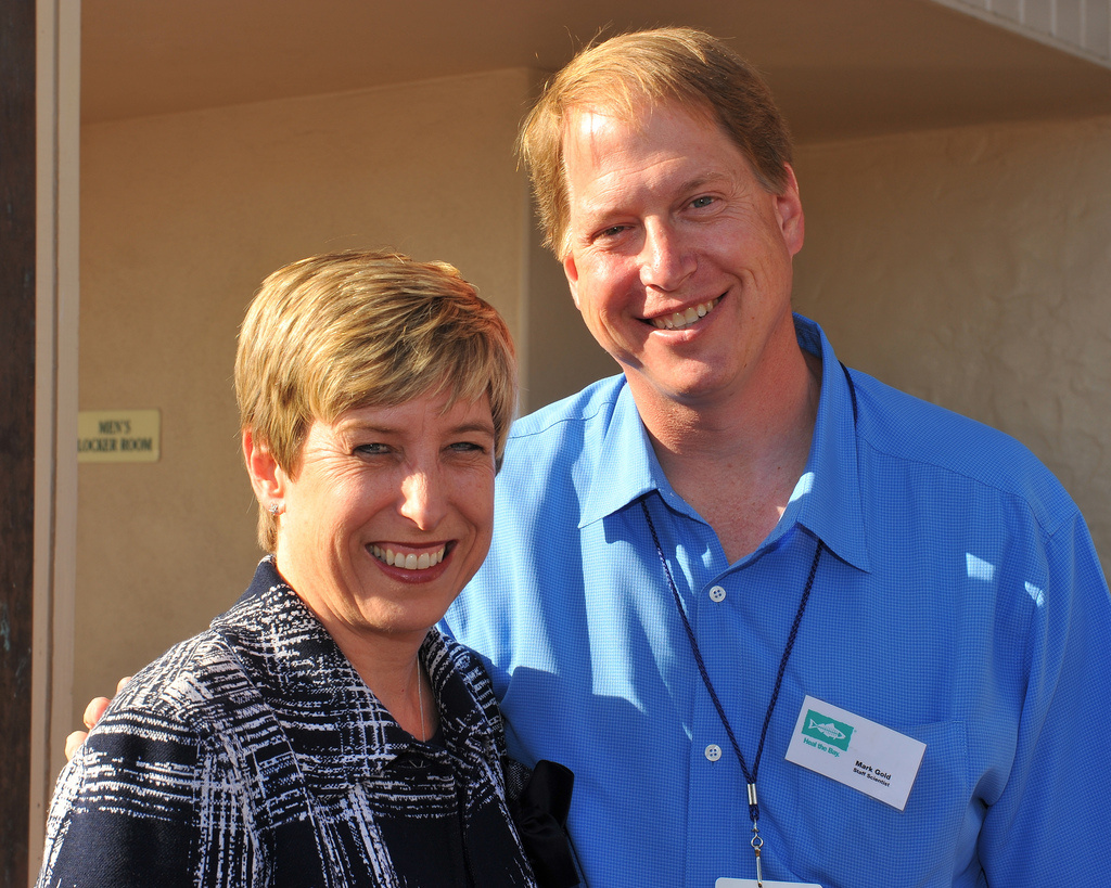 City Controller Wendy Greuel and Mark Gold at Bring Back the Beach 2010
