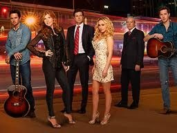 Connie Britton (l.) and Hayden Panettiere (r.) star in the new ABC drama, Nashville.
