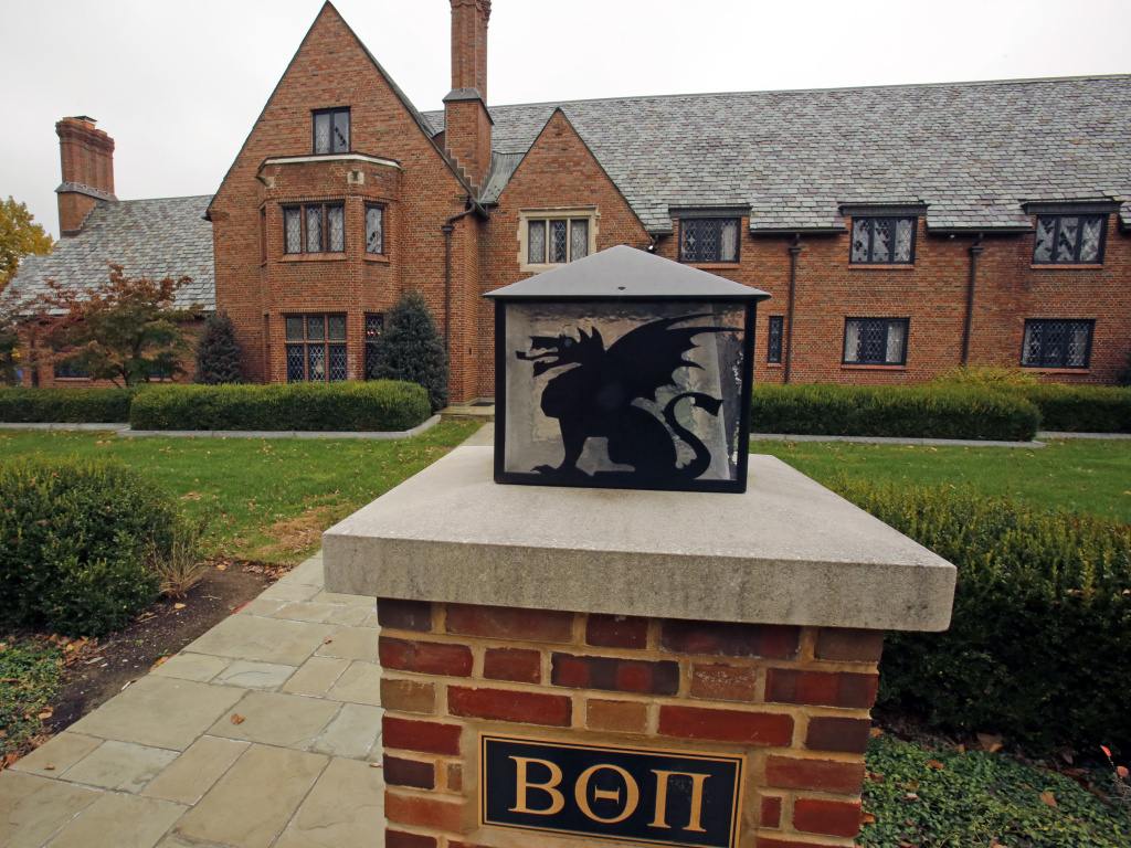 Ryan Burke, the first former fraternity member to plead guilty in the hazing death of Timothy Piazza, has been ordered to serve three months of home detention. In this file photo, the shuttered Beta Theta Pi fraternity house is seen on Penn State University's main campus in State College, Pa.
