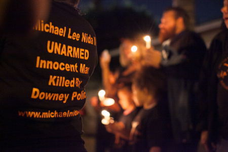 Vigil for Michael Nida