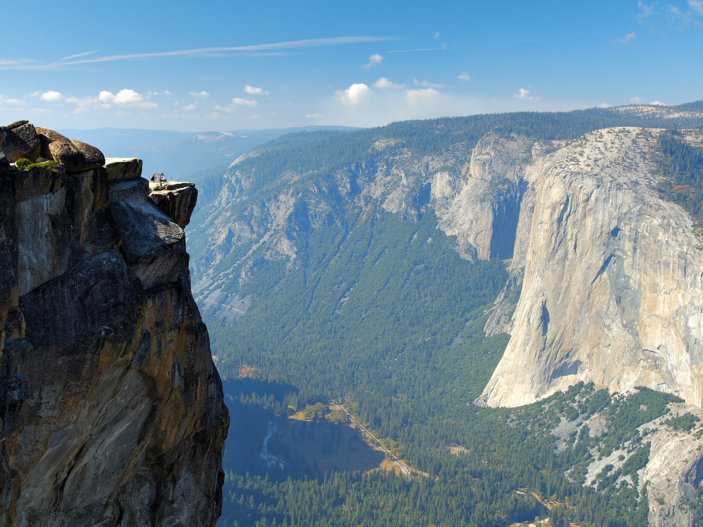 A view from Taft Point Overlook in Yosemite National Park.