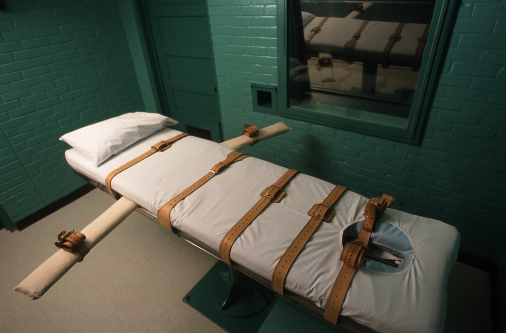 The Texas death chamber in Huntsville, TX, where Texas death row inmate Gary Graham was put to death by lethal injection on June 22, 2000.