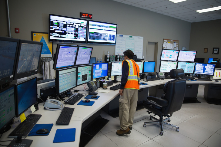 Pacific Gas and Electric's Ben Stanley photographed Wednesday, June 10, 2015 at the utility's Gateway Generating Station in Antioch, Calif.