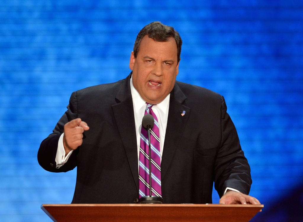 New Jersey Governor Chris Christie speaks at the Tampa Bay Times Forum in Tampa, Florida, on August 28, 2012 during the Republican National Convention. Has Christie's lap band-related weight loss increased his odds in a potential presidential run?