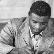 Undated photo of US baseball star Jackie Robinson