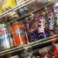 Soda on display at a Brooklyn market in 2010.
