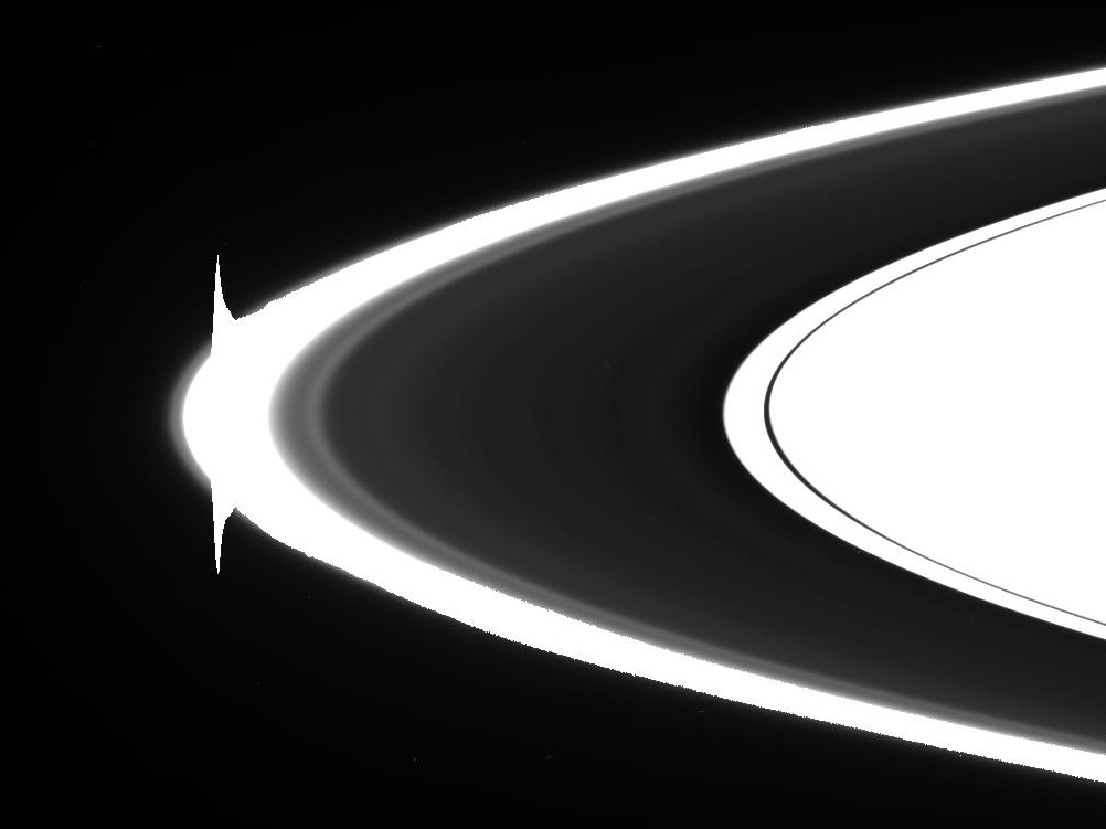 An image of Saturn's ring taken by JPL's Cassini space craft.