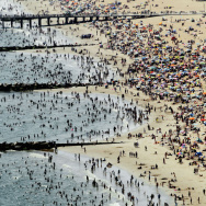 New Yorkers Seek Relief From Summer Heat At The Beach